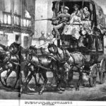 Diligencia de mediados del siglo XIX